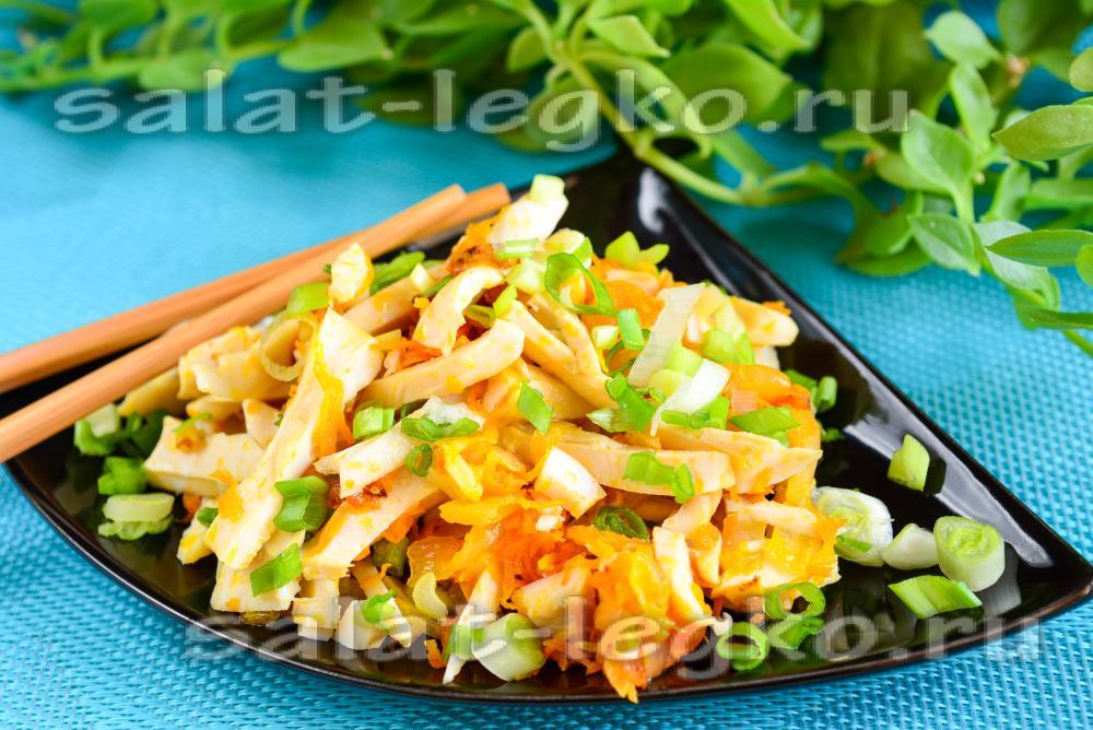 Быстрый салат с кальмарами рецепт 144
