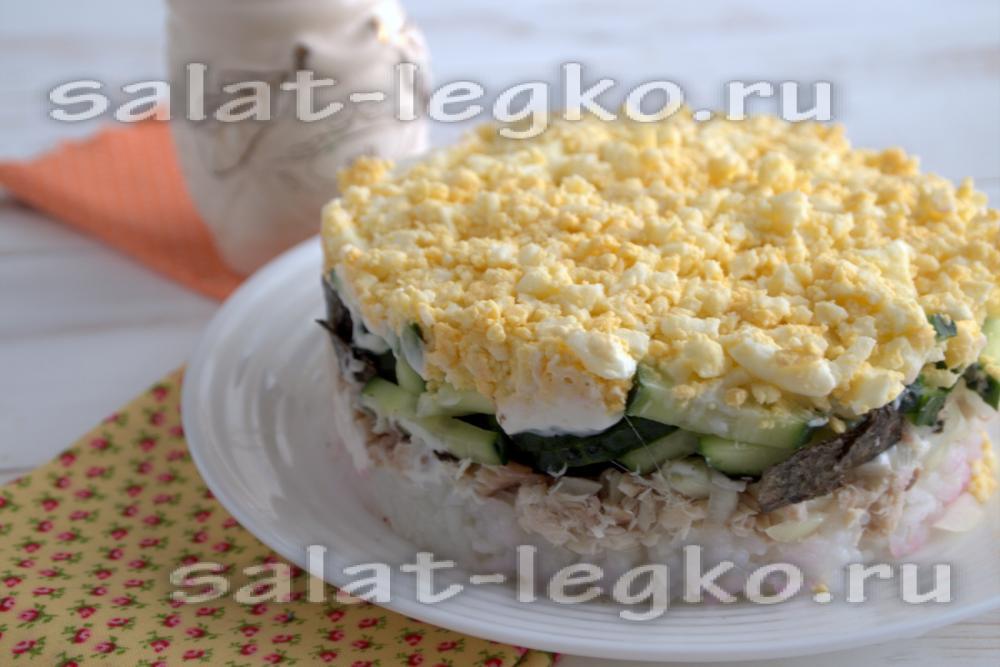 Рецепт слоёных салатов с простые и вкусные