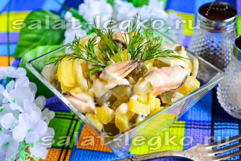 салат с колбасы яиц огурцами рецепты