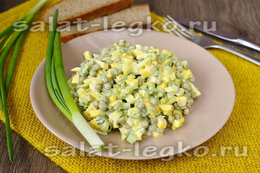 Салат с зелёным горошком рецепты с простые и вкусные
