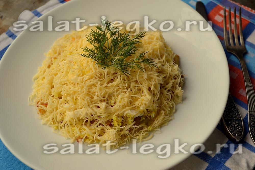 Рецепты салатов с жареным картофелем