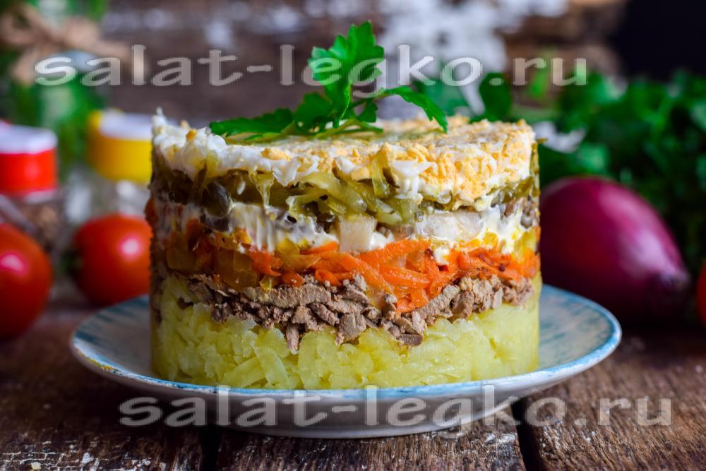 как приготовить салат из куриной печени с вешенками