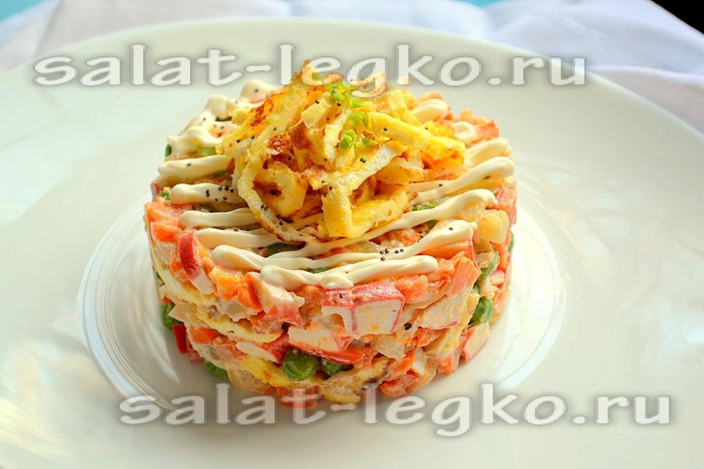 Интересные недорогие салаты с фото