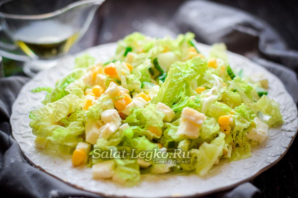 быстрые и не дорогие салаты из кальмаров
