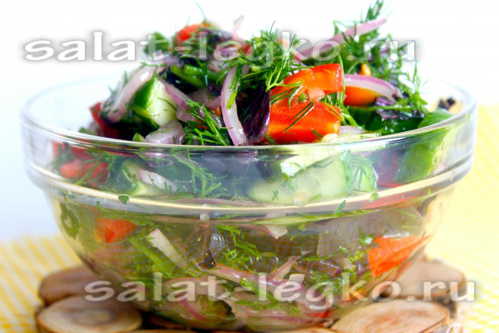 Салат с базиликом рецепты