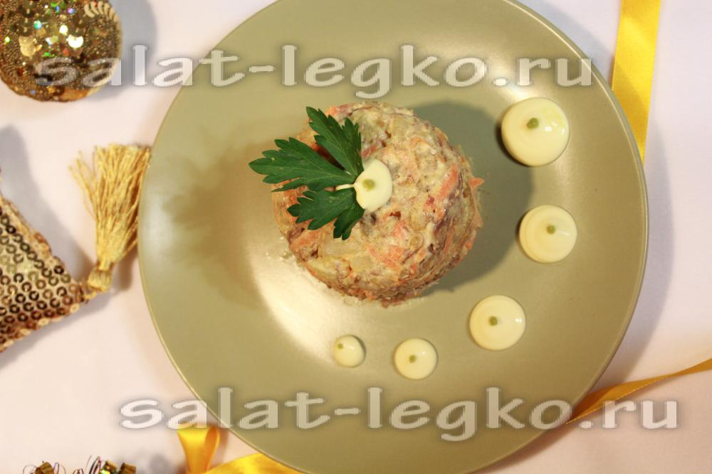 Архиерейский салат классический рецепт