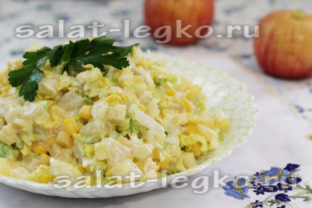 салаты с фотографиями из консервированных ананасов