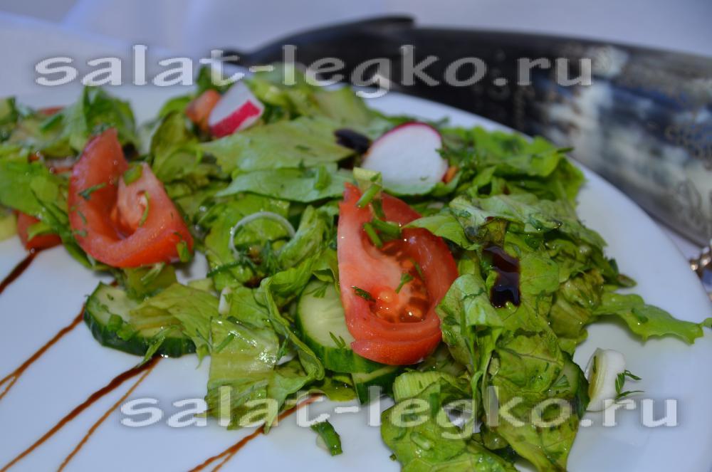 простые салаты с маслом рецепты с фото