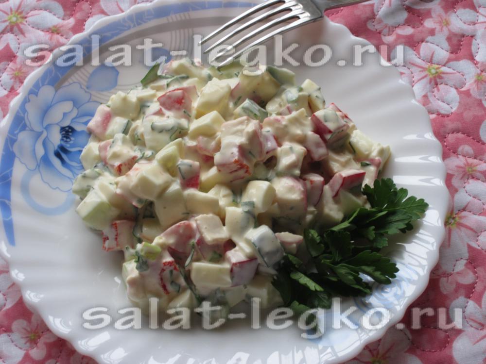 рецепт салата с крабовыми палочками с болгарским перцем