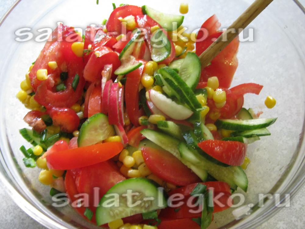 рецепт салата огурцы с помидорами свежими