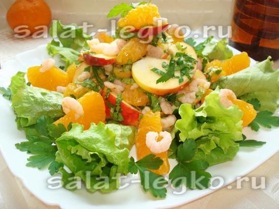 Салат сердце с креветками рецепт с