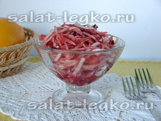 Корейский салат из капусты, моркови и свеклы