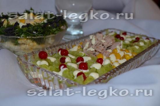 Салат сказочная поляна рецепт с фото