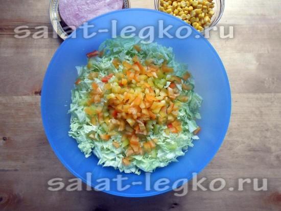 болгарские перцы оранжевого цвета нарезать