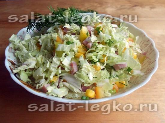 рецепт салата овощные фантазии