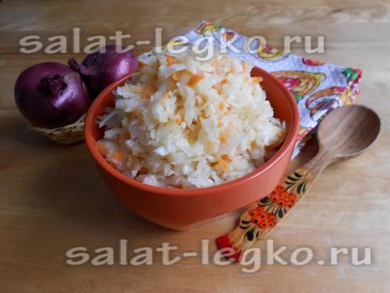 рецепт салата с белой редькой