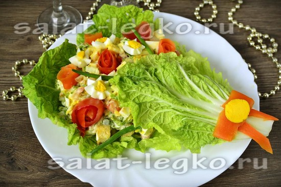 Салат осенний букет
