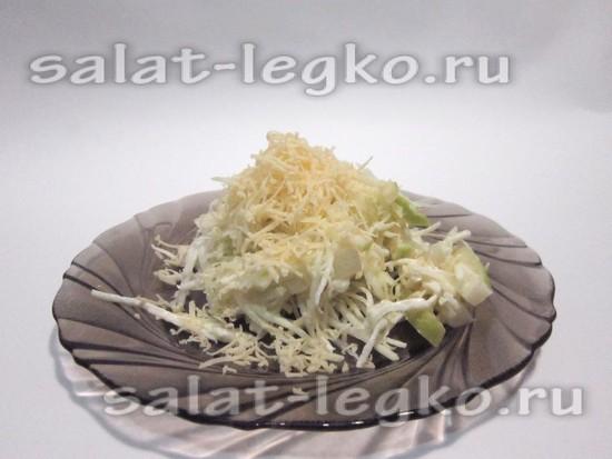 Салат с креветками и мандаринами изоражения