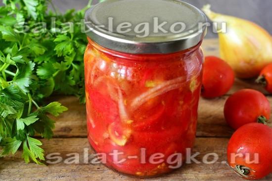 рецепт салата из помидоров на зиму