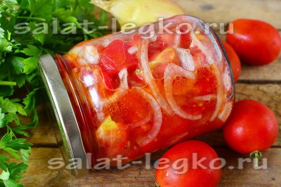 рецепт из помидоров и лука на зиму
