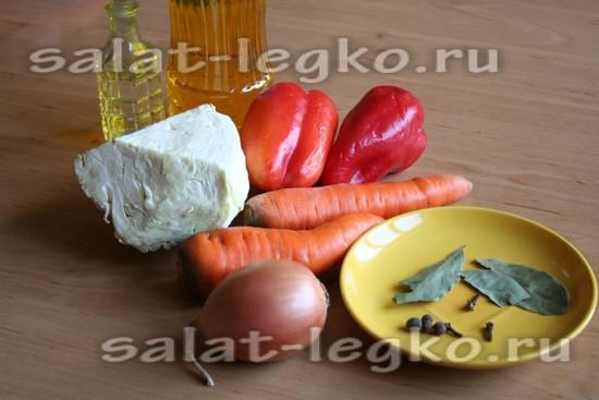 Ингредиенты для приготовления салата Белоцерковский