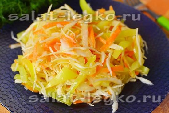 овощной витаминный салат, рецепт приготовления