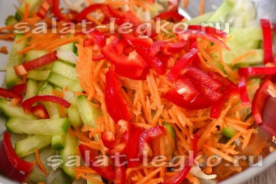 салат острый с капустой