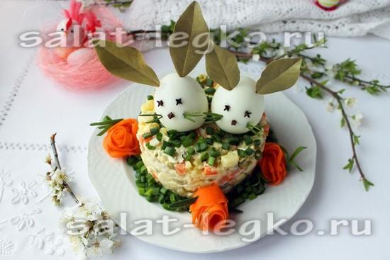 Салат «Оливье» пасхальный