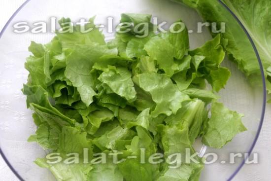 листья салата порвать руками