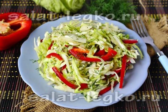 рецепт капустного салата с болгарским перцем