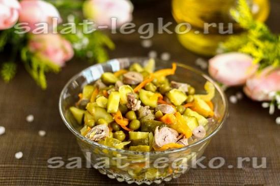 Салат из куриных сердечек: рецепт с фото самый вкусный