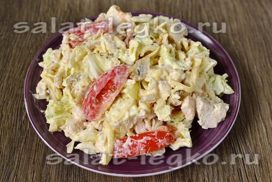 Салаты с помидорами огурцами и сыром рецепты с простые и вкусные 142