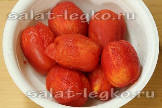 Кожицу с томатов снять