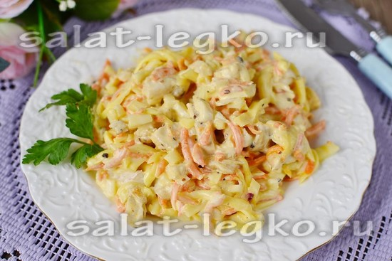 "Салат ""Бунито"", рецепт с фото пошагово"