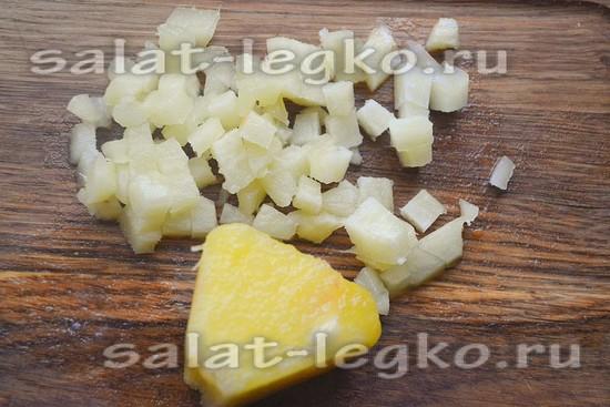 ананас нарезать мелко