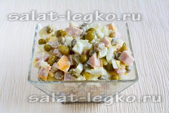 Салат рандеву рецепт с ветчиной новые фото