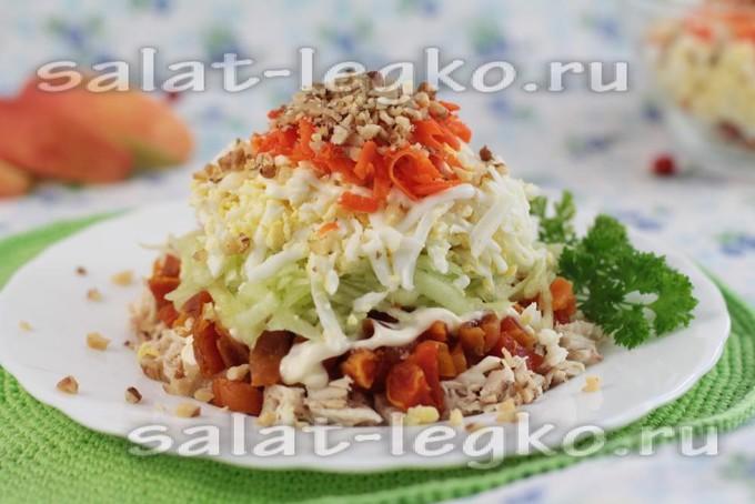 Салат свекла морковь вареная свежий огурец
