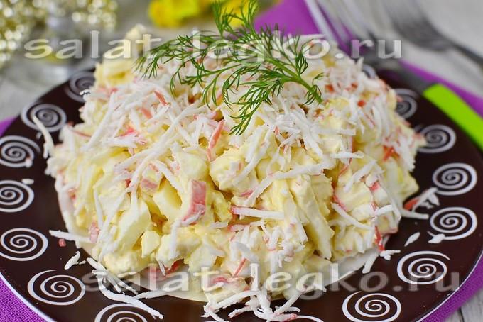 салат из плавленного сырка