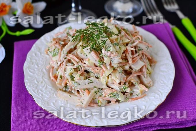 Салат с черносливом и корейской морковкой рецепт