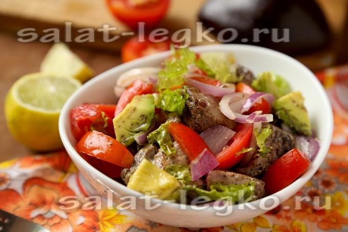 салат из тунца с авокадо рецепт с фото очень вкусный