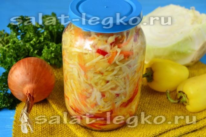 салат балатонский на зиму с капустой