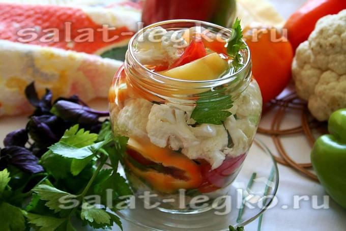 салат из цветной капусты на зиму калорийность