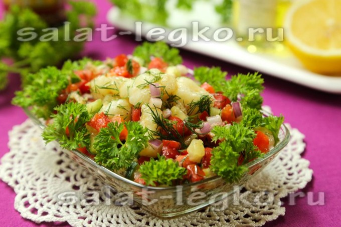 салат постный из цветной капусты
