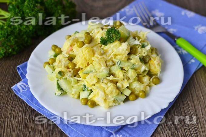 салат с картошкой и капустой квашеной