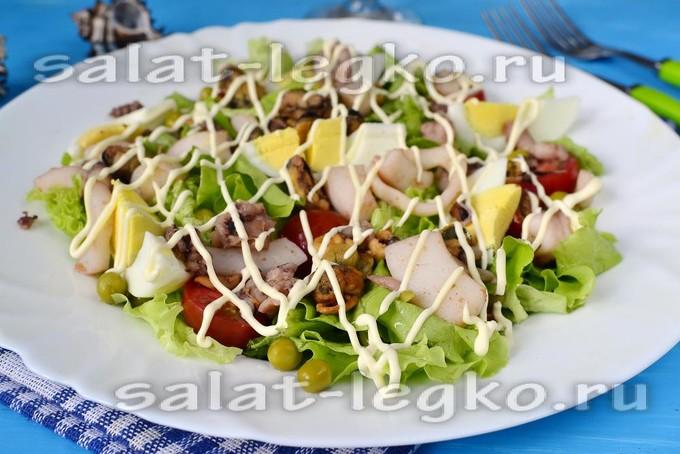 салат с морского коктейля рецепт с фото очень вкусный