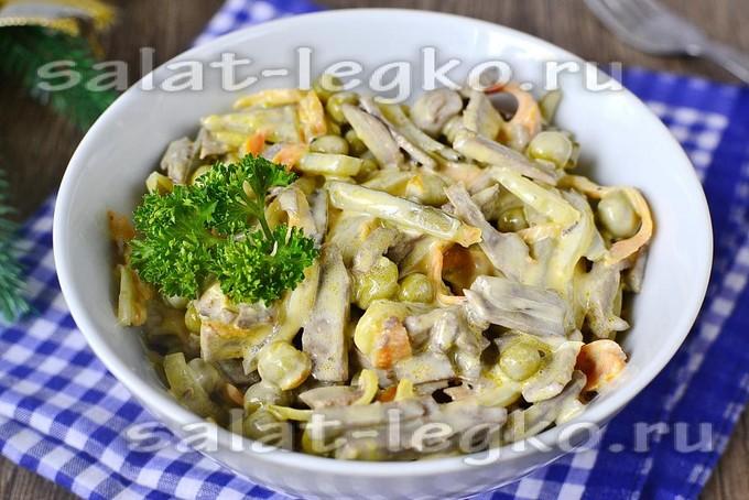 салат обжорка классический рецепт с фото с говяжьей печенью