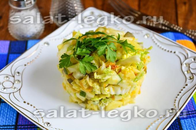 Полезный салат из пекинской капусты