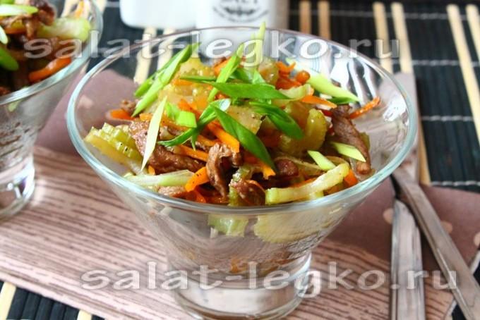 Салат с ананасом слоями рецепт