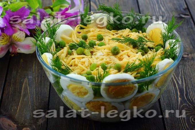 Яичный салат с курицей и <a href=
