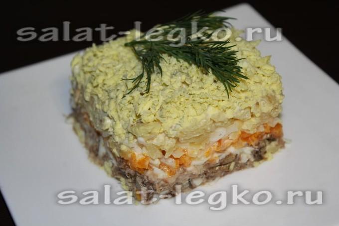 простые салаты с шпротами рецепты с фото